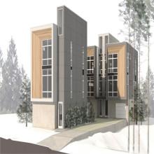 (WL-1) Slope Roof Stell Fertighaus für Wohnprojekt