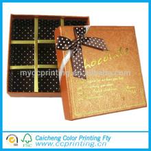 caja de embalaje de trufa de chocolate