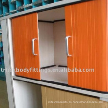 Puerta de alta calidad del obturador del rollo del gabinete de puerta de cortina de la aleación de aluminio