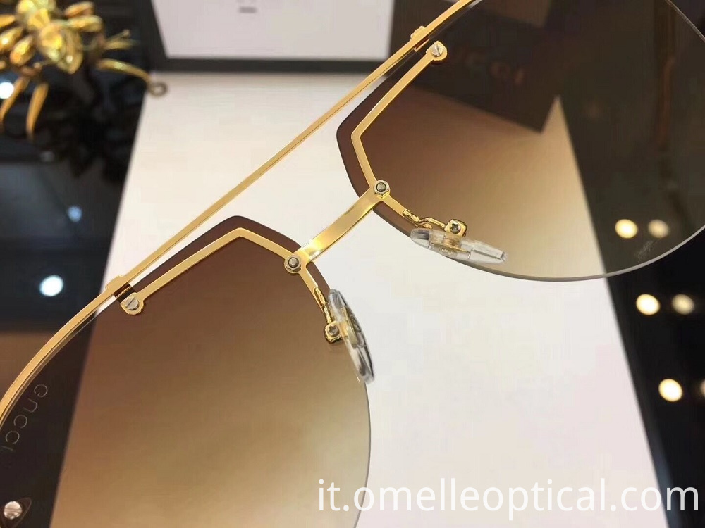 Semi Rimless Sunglass