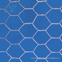 Rede de arame sextavada galvanizada 20mm da cerca