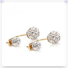 Joyería de cristal joyería de moda pendiente de acero inoxidable (EE0242)