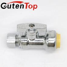 GutenTop Alta Qualidade1 / 4 Turn Angle Stop para Válvula Push-Fit com 1/2 Polegada Push x 3/8 Polegada Compressão Cromado