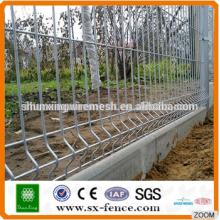 Clôture métallique de clôture en treillis en treillis en PVC