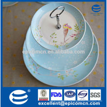 Soporte de la torta de 3 gradas, placa de la torta, soporte de la magdalena, sostenedor de la magdalena, sostenedor de las tazas de la torta, soporte de la torta de cerámica
