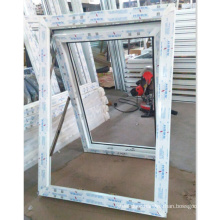 top hing outside open window with upvc material