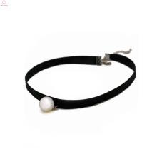 2018 noir collier de ras du cou de tatouage de perle de velours pour les femmes