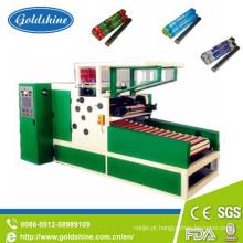 Máquina de rebobinagem de motor elétrico para película aderente e rolo de folha de alumínio