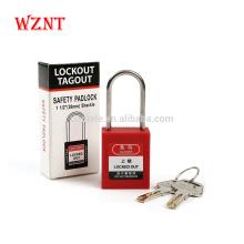 Cadenas de sécurité en nylon renforcé de couleur P38SD4, cadenas à combinaison avec clé principale
