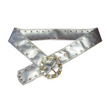 NEW!!!!!Circular with double-row rivets PU champion belt