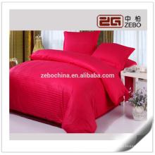 Tissu en coton coloré de 1cm en coton Custom Queen Queen's Bedding Sheets