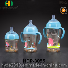Wholesale 330ml PPSU Plastic Baby Feeder Bottle, BPA Free Customized Plastic Baby Water Bottle (HDP-3055)