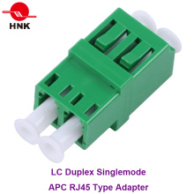 LC Duplex RJ45 Type Singlemode APC Fiber Optic Adapter