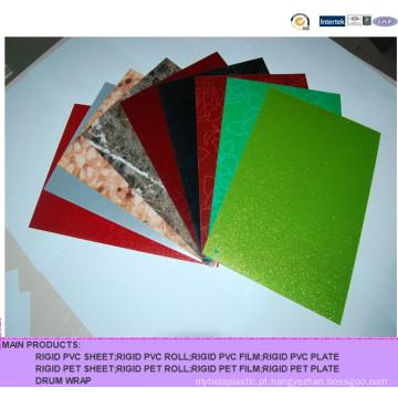Folha de PVC rígido colorido com textura diferente