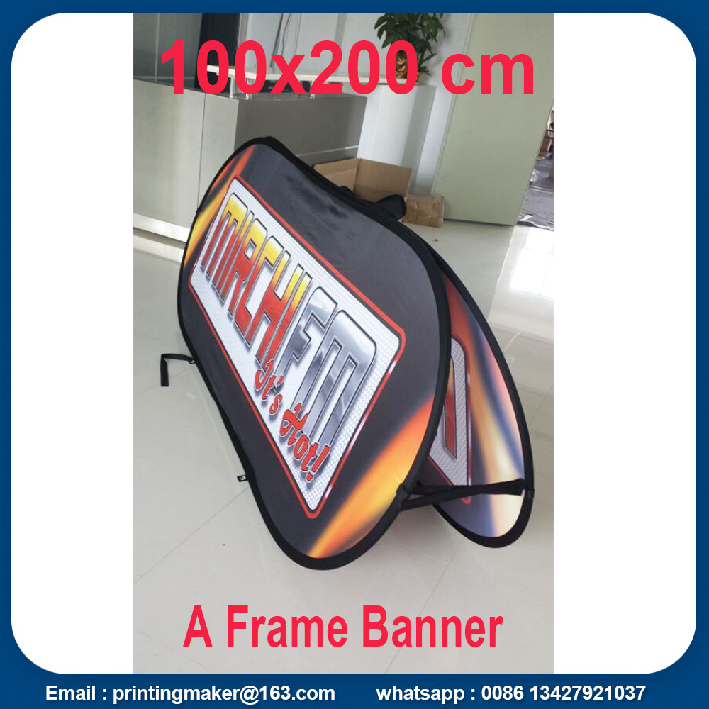 Fabric Horizontal Pop Up Display Banners
