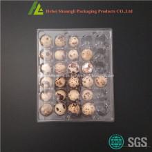 Bandeja de ovos de codorna transparente de 30 buracos transparentes