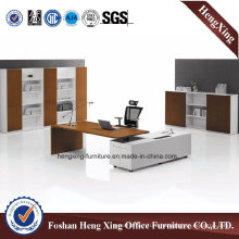 White Color MDF Executive Table Office Furniture (HX-5N426)