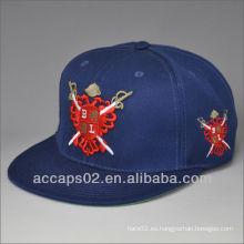 El borde plano llano de la importación al por mayor encaja a presión los sombreros traseros