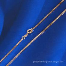 Collier de scie à chaîne à la mode avec plaqué or 18 carats