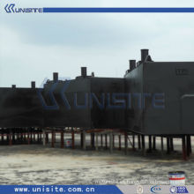 Muelles flotantes de acero pontón para dragado y construcción marina (USA-1-004)