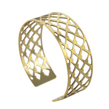 fashion gold plating stainless steel cuff bangles with nets for men ,RD-1134