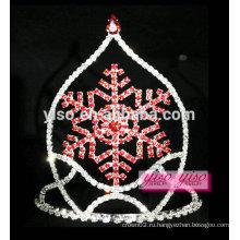 Мода цвет волос ювелирные изделия снежинка дети тиары оптом