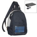 students solar chargeable bag,solar energy bag with 2200mah power battery