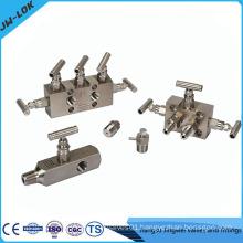Stainless steel multi port gauge valve