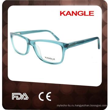 2017 Кристалл синий цвет унисекс ацетат оптические очки