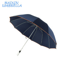 "High Quality Advertisement Products 27""10 Ribs Auto Open Blue Unbreakable Aluminium Walking Light Golf Umbrella with Logo Prints"