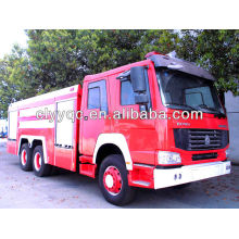 SINOTRUK HOWO 12000liter(12CBM) fire water tanker 6X4 used fire truck for sale