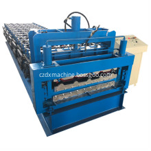 Double layer corrugated roof roll former forming machine