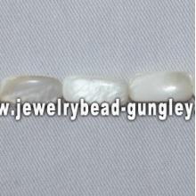 narrow rectangle shape freshwater shell beads