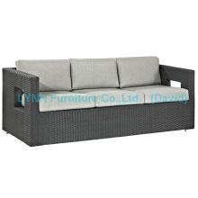 Sofá de sofá Sofá de Rattan impermeável de 3 lugares