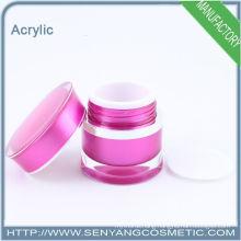 Luxury round cream jar acrylic cosmetic jar for cosmetic packaging