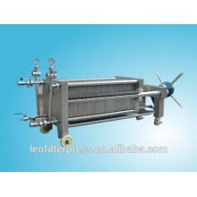 Prensa de filtro de filtración de membrana de placa y marco de acero inoxidable