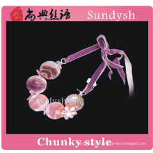 vintage handmade trendy statement gemstone colorful bead crystal funky pink fashion jewelry girls big chunky necklaces wholesale