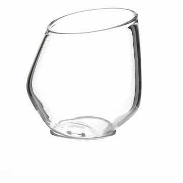 Transparent Pyrex Glass Wine Cups