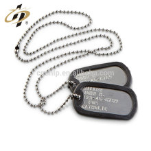 Wholesale cheap bulk Aluminium material custom design collar military metal dog tag necklace
