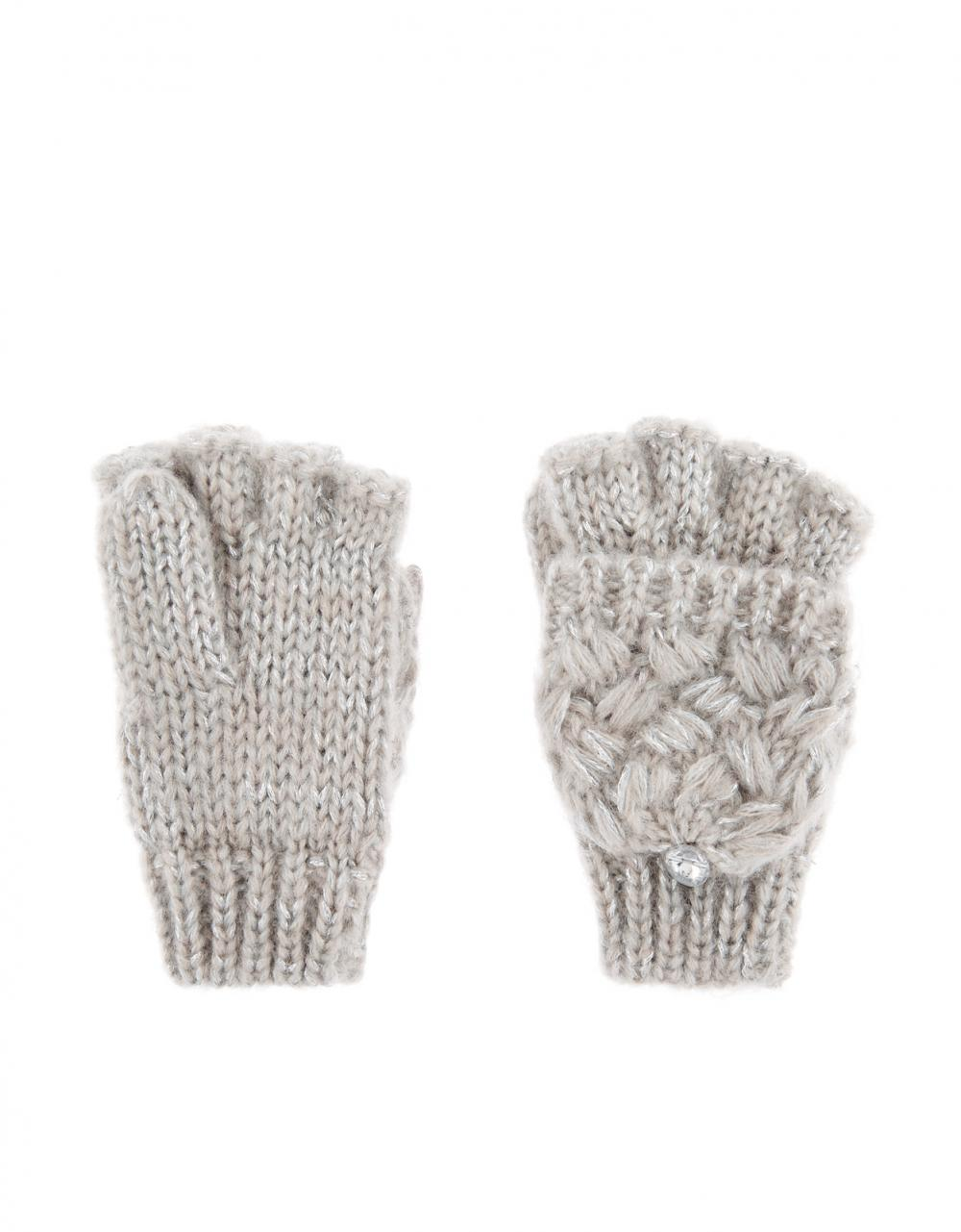 Cross Stitch Gem Capped Gloves