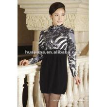 смешанные женские кашемировые платья, сделанные в Китае