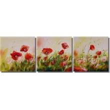 Pintura a óleo contemporânea Handmade da flor de 100% (FL3-215)