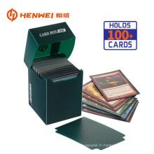 Boîte d'emballage de collection en plastique de carte de jeu de haute qualité