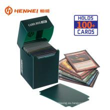 Caja de embalaje de colección de plástico de tarjeta de juego de alta calidad