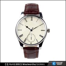 3ATM impermeabilizan el reloj de los hombres del cuero genuino del IPS, reloj del movimiento de miyota 2035 de Japón