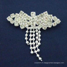 Broche simple en strass