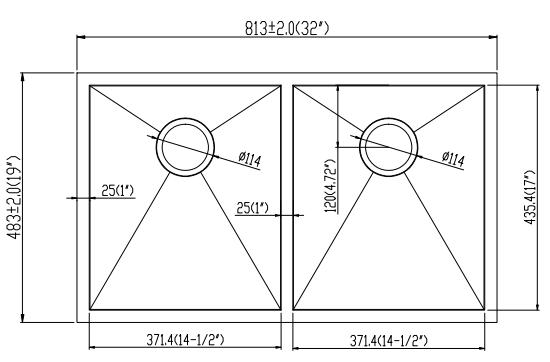 32''19''10'' Line Drawing