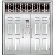 stainless steel door with transom window