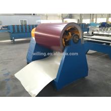 Máquina de desbobinação hidráulica 5ton para chapa de aço colorida