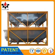 Patent product 40m3 stackable Horizontal Cement Silo with horizontal screw conveyor